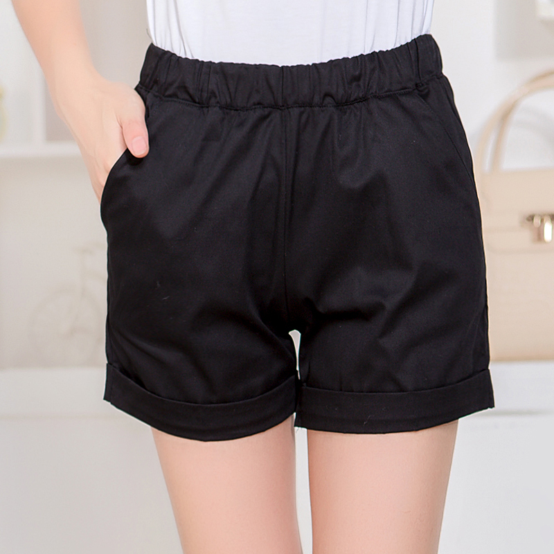 2016 new summer shorts female spring new large size candy colored loose cotton casual short pants shorts korean tide