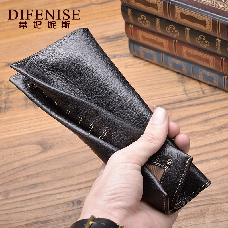 2016 new thin men wallet long section of simple leather wallet soft leather wallet influx of women leather hand bag women