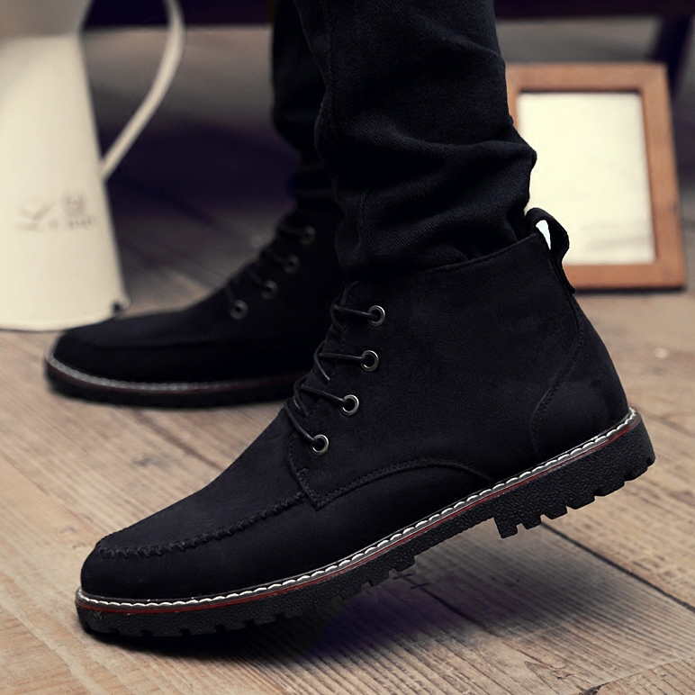 2016 new warm winter plus velvet padded shoes british style trend of men shoes men's leisure shoes tide shoes leather shoes
