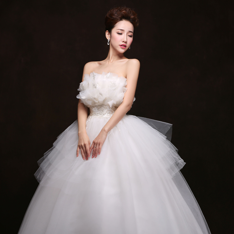 2016 new wedding dress big yards fashion korean waist pregnant bride wedding bra qi wedding dresses