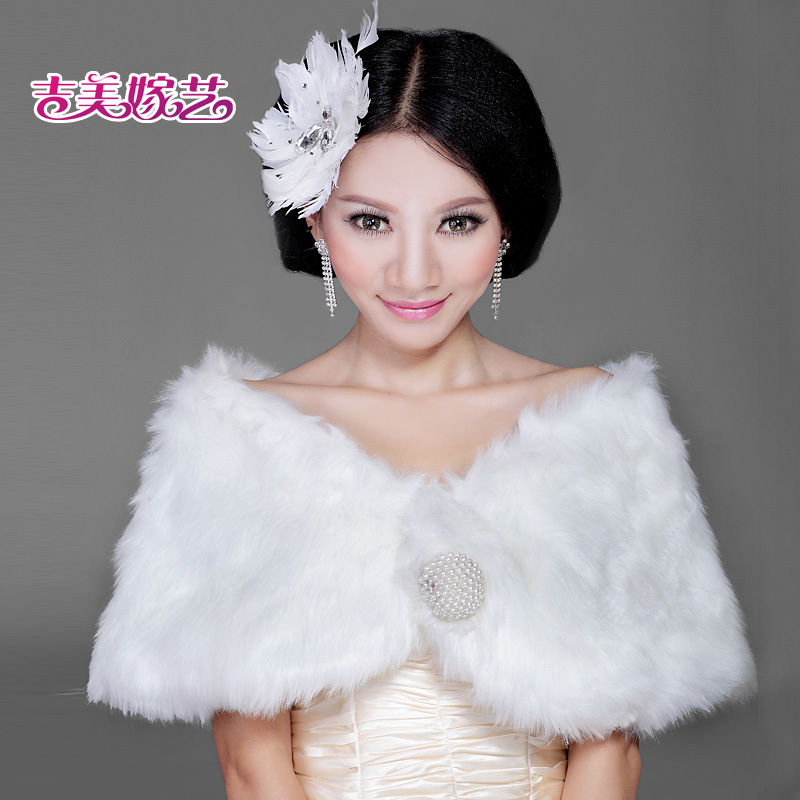2016 new wedding shawl wool shawl bride dress accessories korean suit winter bride wedding shawl PJ00 3