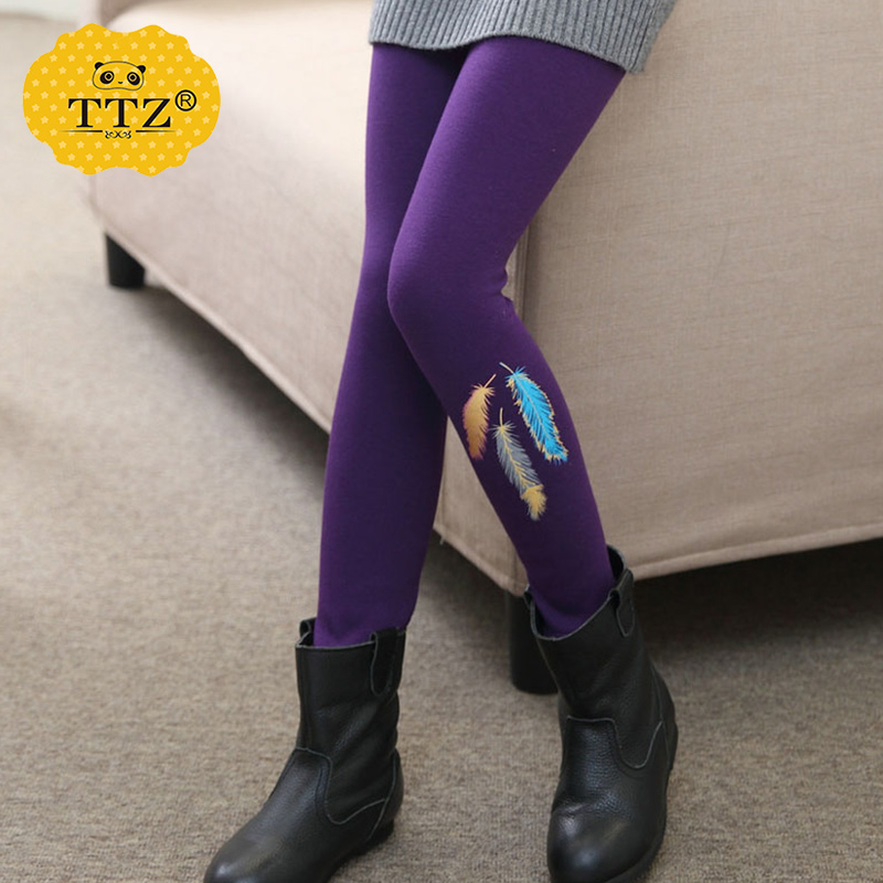 9e9486ef88783 Get Quotations · 2016 new winter girls leggings 10 winter trousers children  12 years old girl korean version plus