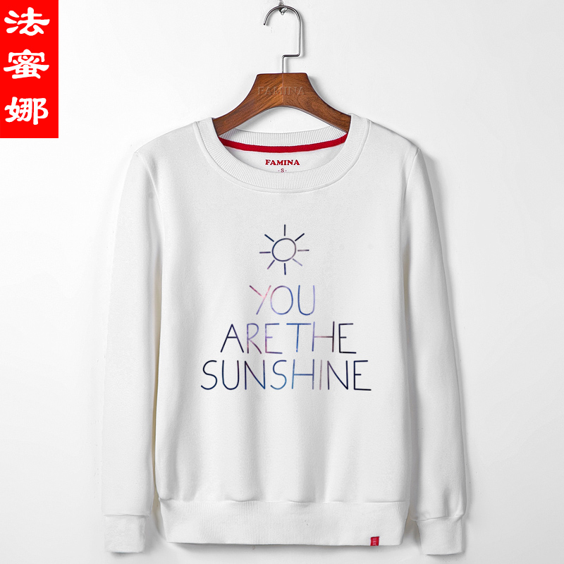 2016 spring and adolescent middle school students wei clothes t shirt autumn new korean version of the cartoon cute girls