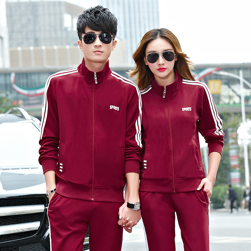 2016 spring and autumn casual sportswear sports suit lovers buy large size fashion slim suit female shipments moving equipment