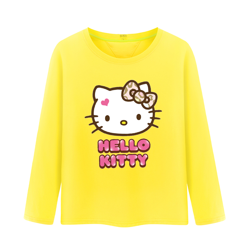 2016 spring and autumn female children's clothing children long sleeve t-shirt tide big boy cartoon round neck t-shirt korean version bottoming shirt