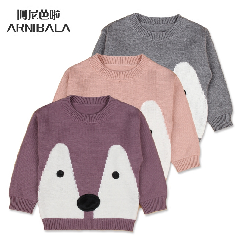 2016 spring and winter new children sweater female baby sweater coat boys and girls dress korean version of hedging sweater