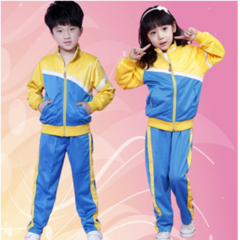 2016 spring and winter school uniforms students kindergarten students dress uniforms sports suit class service