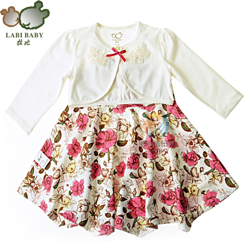 2016 spring rabbi childrenwear rococo dress (with shorts jackets) LPABD16402 73-110