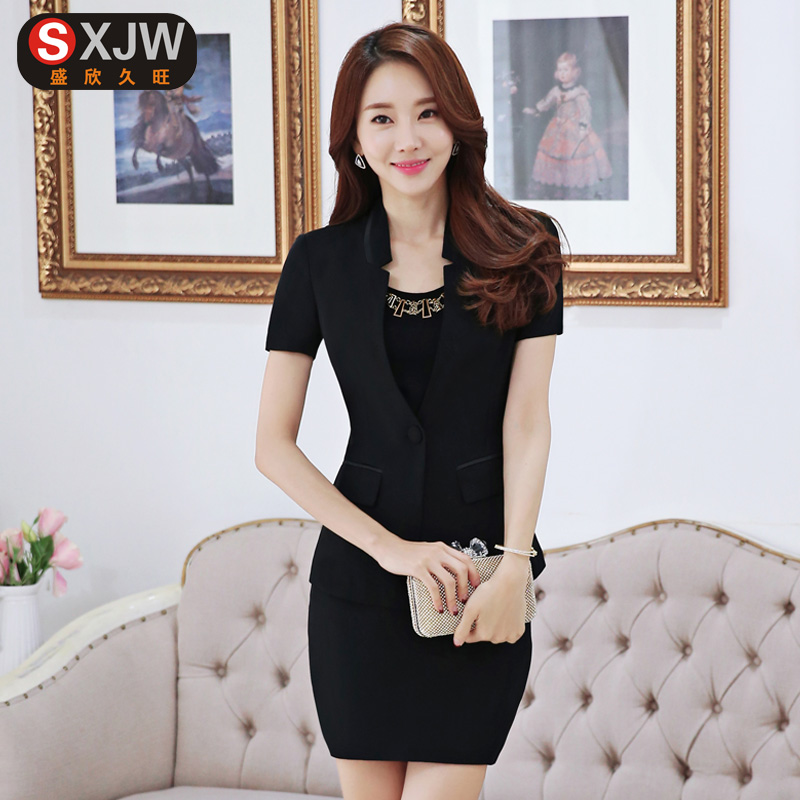 2016 spring women wear suits slim suits overalls interview dress suit three women with disabilities piece skirt