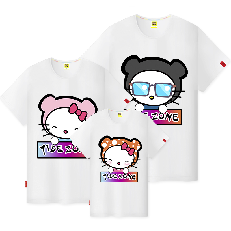 2016 summer korean version of the original hello kitty round neck short sleeve t-shirt short sleeve shirt girl heart short sleeve