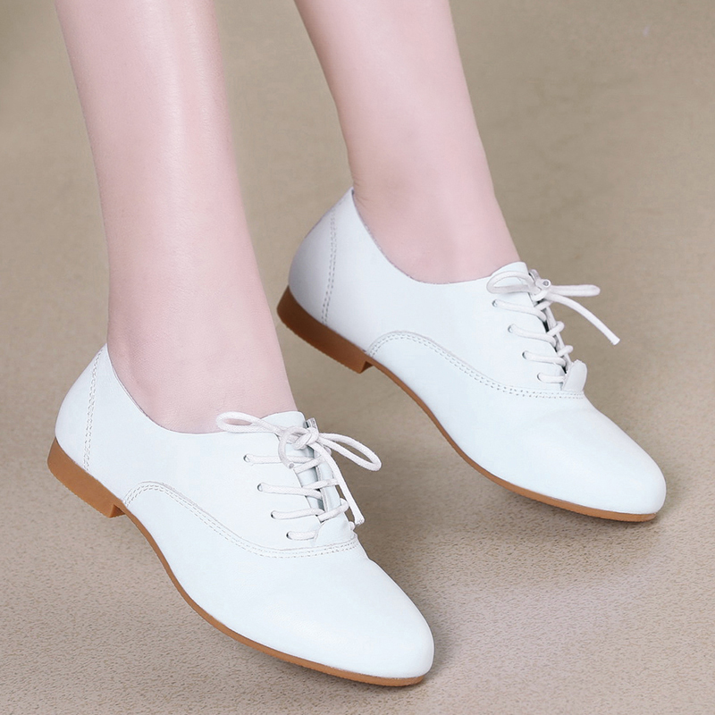 2016 summer lace korean flat shoes white shoes women shoes women's singles shoes england college wind small leather shoes flat shoes with low shoes