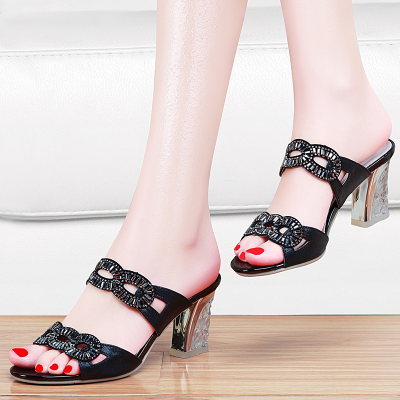 fb20d9761f182 Get Quotations · 2016 summer new european and american luxury diamond in  the rough with sandals shoes fish head