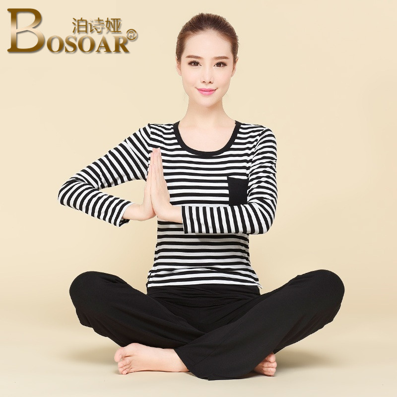 2016 summer new ladies bosoar elegant fashion models cotton round neck sports running fitness yoga clothes