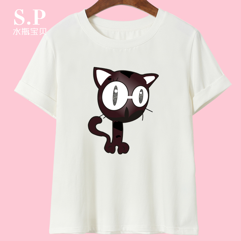 2016 summer new ladies short sleeve t-shirt loose big yards thin section korean version of the simple sleeve shirt bottoming influx of students