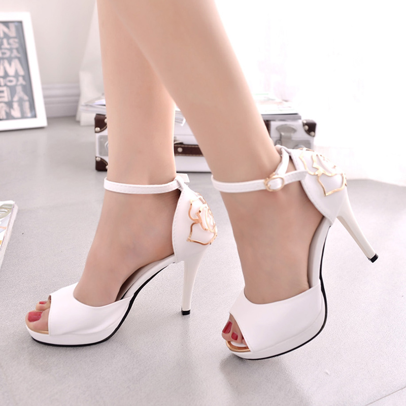 China white high heels china white high heels shopping guide at get quotations 2016 summer new white side empty flower sandals women sexy high heels shoes fine with super mightylinksfo