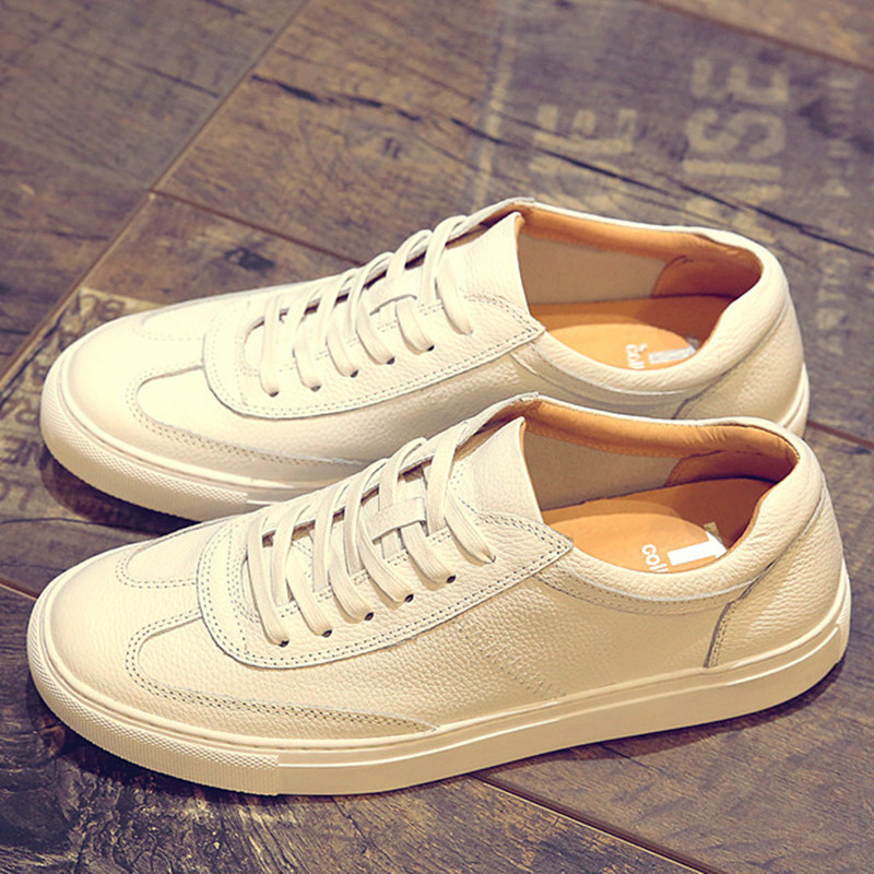 2016 summer wild breathable casual shoes white shoes leather lace flat shoes women shoes couple shoes korean wave