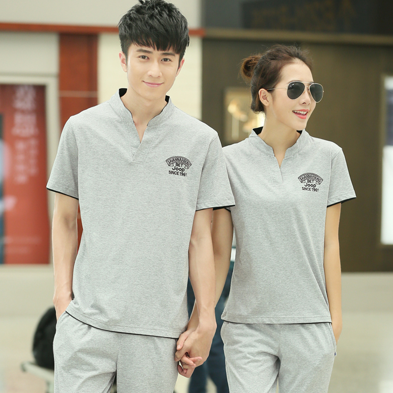 2016 summer women's products free shipping new couple sportswear leisure suit korean version was thin xl fat mm