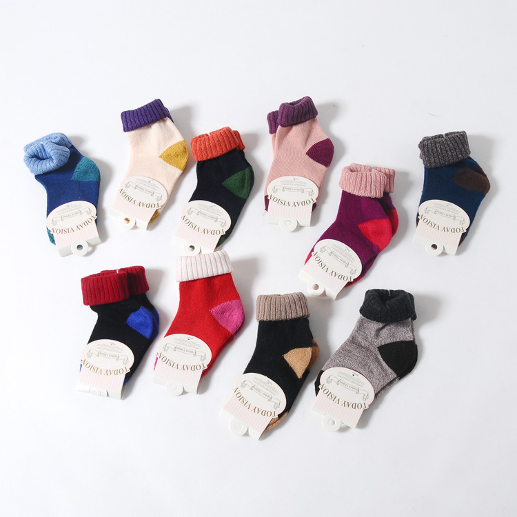 2016 winter korean version of children's plush socks infant baby boys and girls plus thick warm socks in tube socks