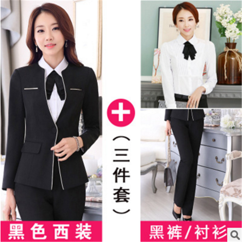 2016 women wear suits autumn ol suit chaps sleeved big yards career suits suits overalls female