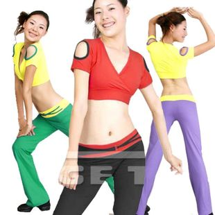 Sige figure aerobics workout clothes new spring and summer women xl half aerobics aerobics clothing female suit