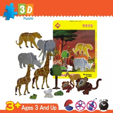 3d three-dimensional jigsaw puzzle animal series-a