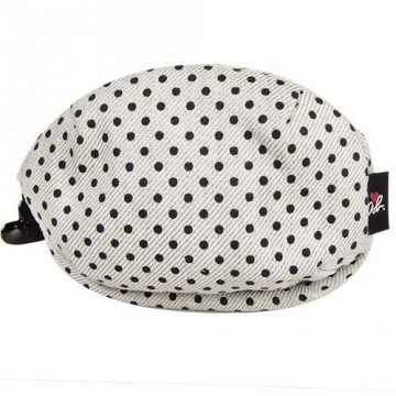 Agnes b. ab. heart little canvas cosmetic bag (small/gray) taiwan's official website direct mail import