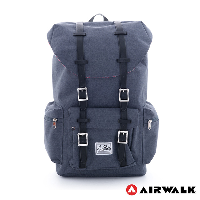 Airwalk-modern college wind drawstring tote bag laptop backpack after () taiwan's official website direct mail import