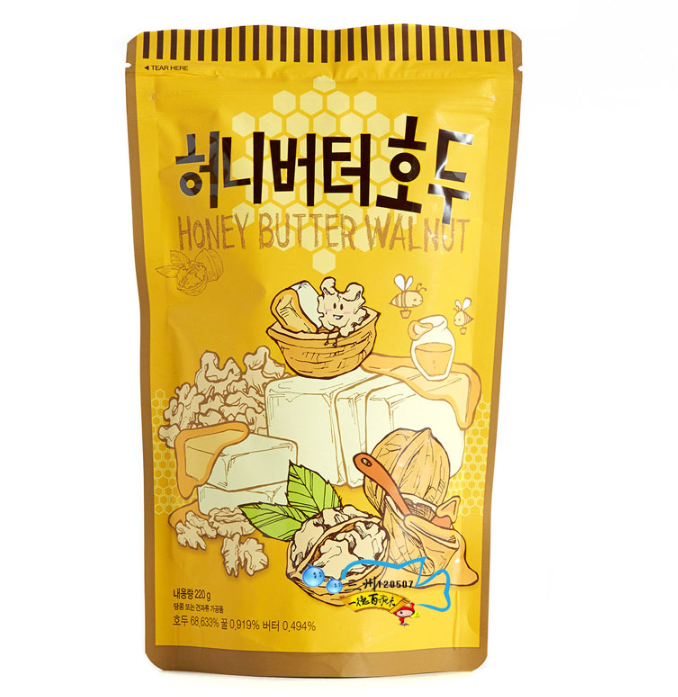 South korea imported snacks tom farm honey butter nuts walnuts 220g