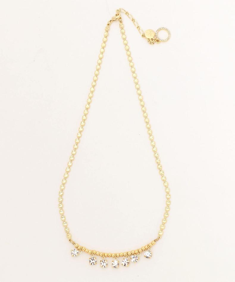 Onward 'cello' pieces of japanese ladies fashion sweater chain necklace long section of gold color luxury diamond decoration