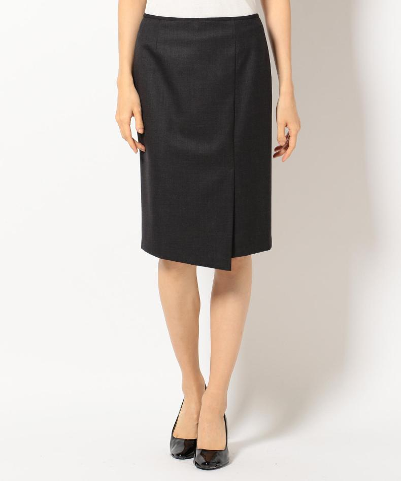 7a570a6889f Get Quotations · Onward icb stretchsaxony wrap skirt black skirts and knee  ms. office worker