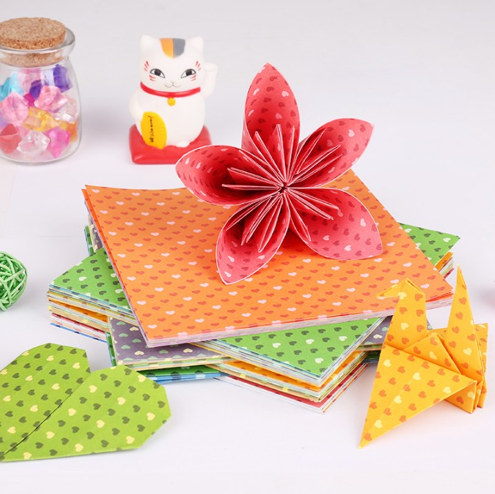 3 bags post deli color children's handmade paper folded flower diy handmade paper art paper flower color printing paper handmade paper cutting