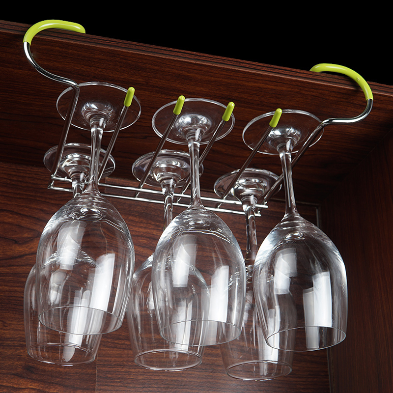 304 stainless steel wine cup holder cup holder wine cup holder hanging upside down hanging stemware rack european household shelves