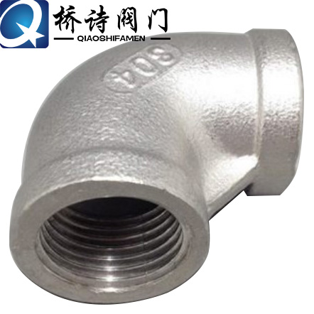 316 stainless steel threaded elbow 90 degrees 304 right angle connector wire port threaded dn15-dn100