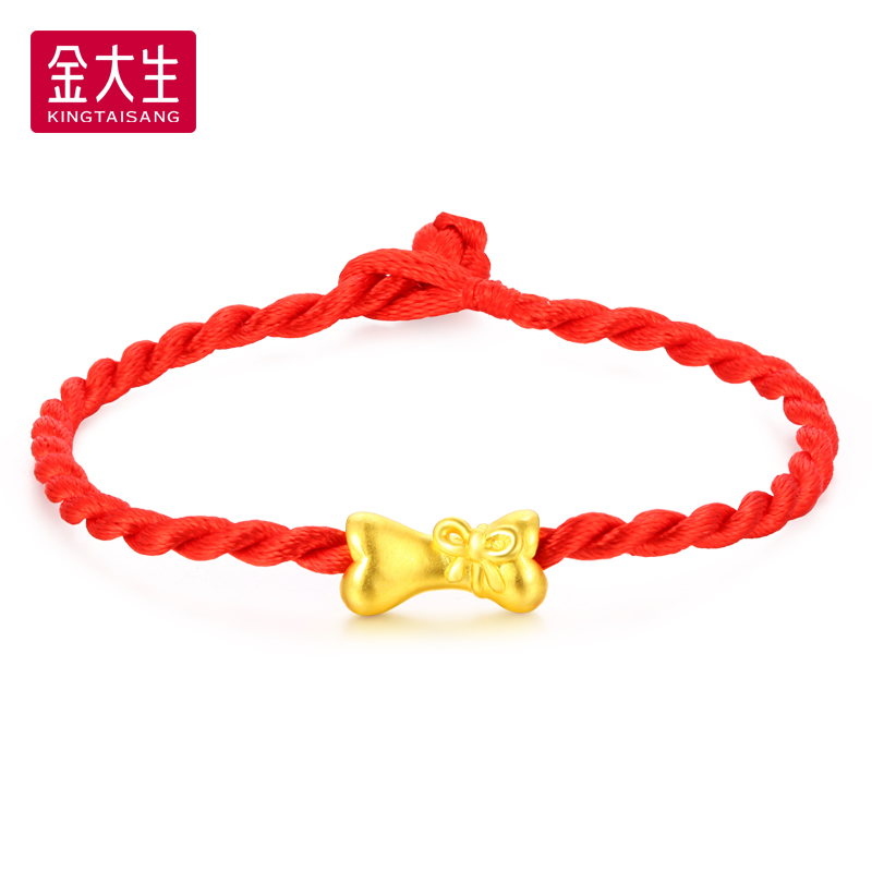 319 yuan/gram jinda sheng gold jewelry 3d hard gold transfer beads bow bone 999 K998A