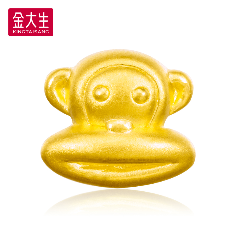 319 yuan/gram jinda sheng gold jewelry gold 999 gold 3d hard gold transfer beads mouth monkey K977F