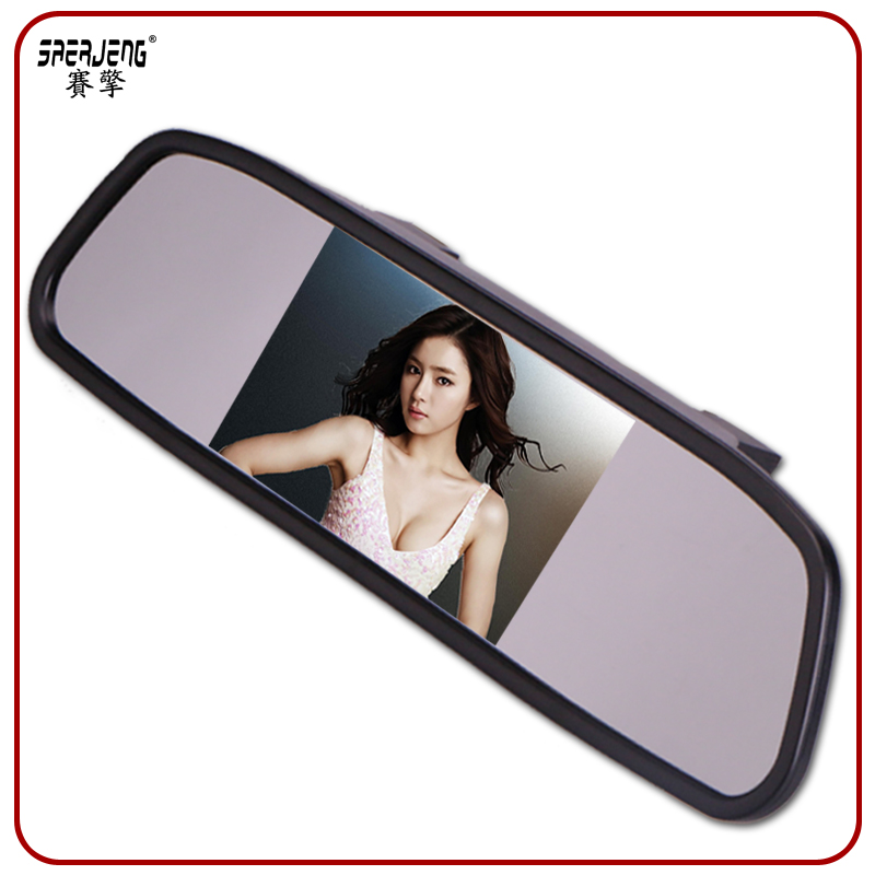 350 high brightness 4.3 car rearview mirror monitor universal reversing video dvd was the display screen 12-24 V
