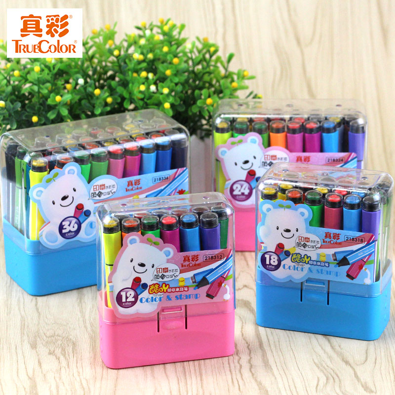 36 ah cool color tft true color watercolor pen children's watercolor painting pen pen washable watercolor brush seal pen free shipping 218336