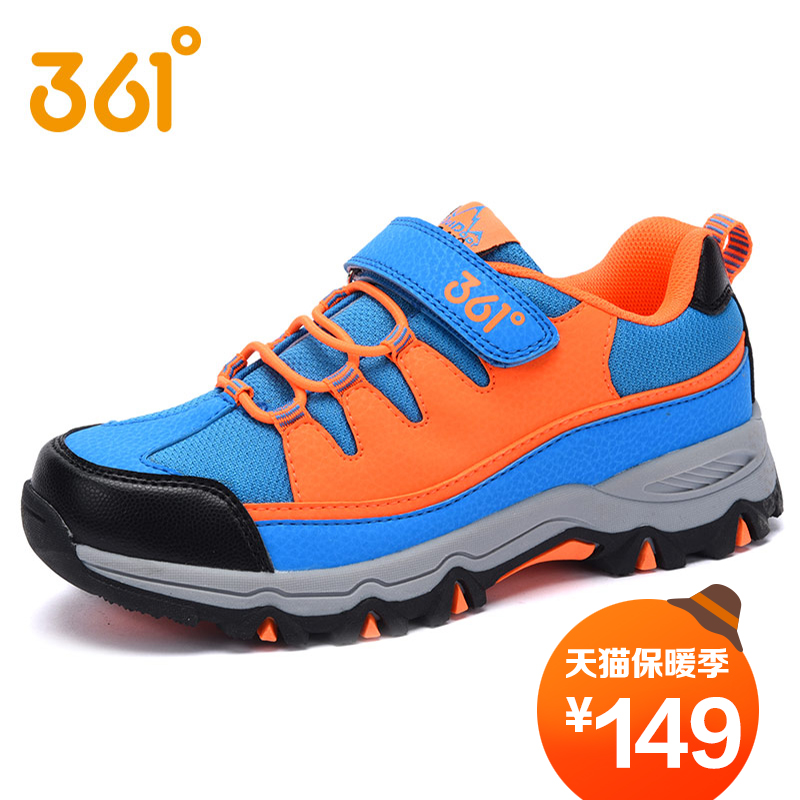 [361 degrees shoes adolescent boys hiking shoes outdoor shoes 2016 new winter children's sports shoes authentic