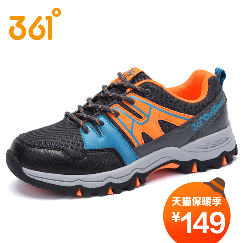 [361 degrees shoes boys shoes in spring and autumn influx of 2016 new children's sports shoes boys outdoor shoes hiking shoes