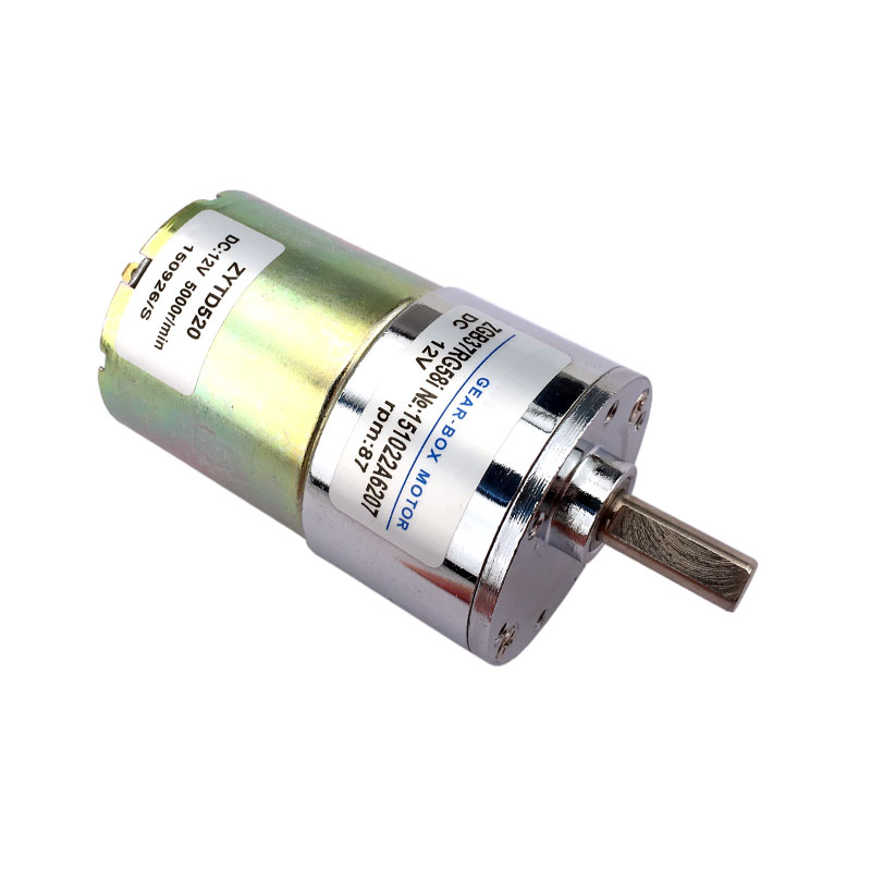 37mm dc12v 87 rpm high torque dc geared motor speed reversible motor ZGB37RG58i
