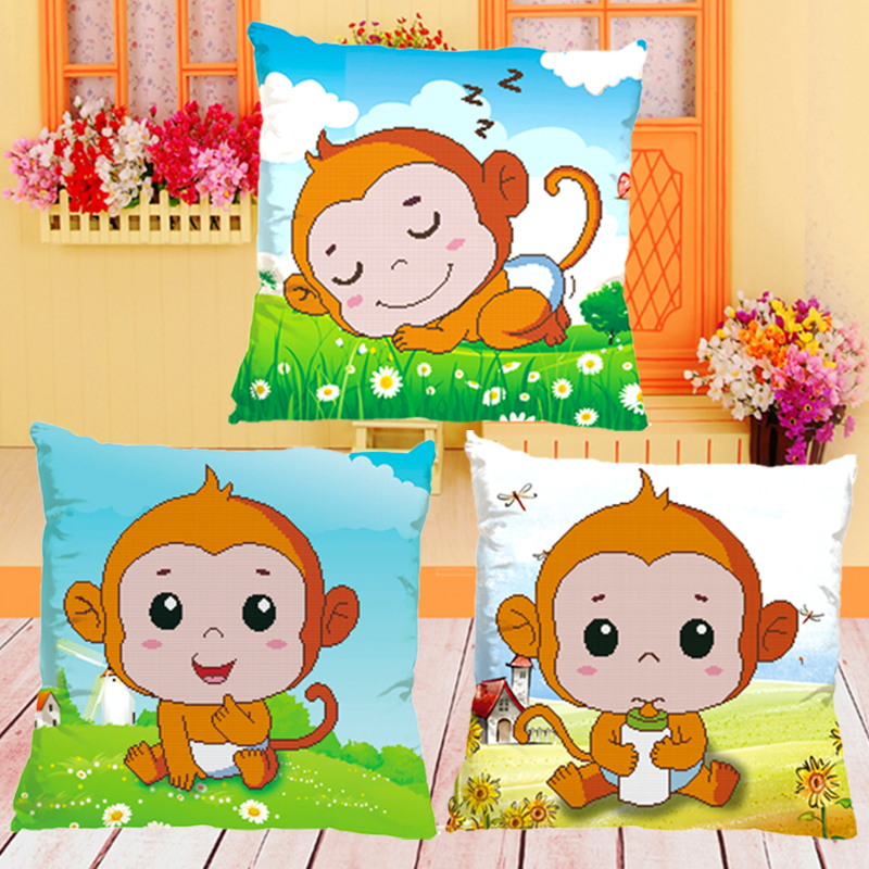 3d printing precise stitch pillow backrest cushions monkey year real man meng pet cartoon children's room animal shipping