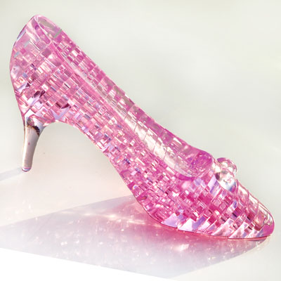 3d three-dimensional crystal puzzle assembled model heels educational toys diy creative gifts birthday gift girlfriend
