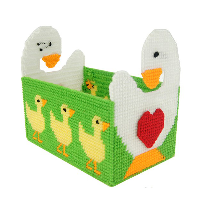 3d three-dimensional embroidery stitch wool embroidered tissue box pumping tray 132 new living room storage box diy small wasairtightbefore diamond