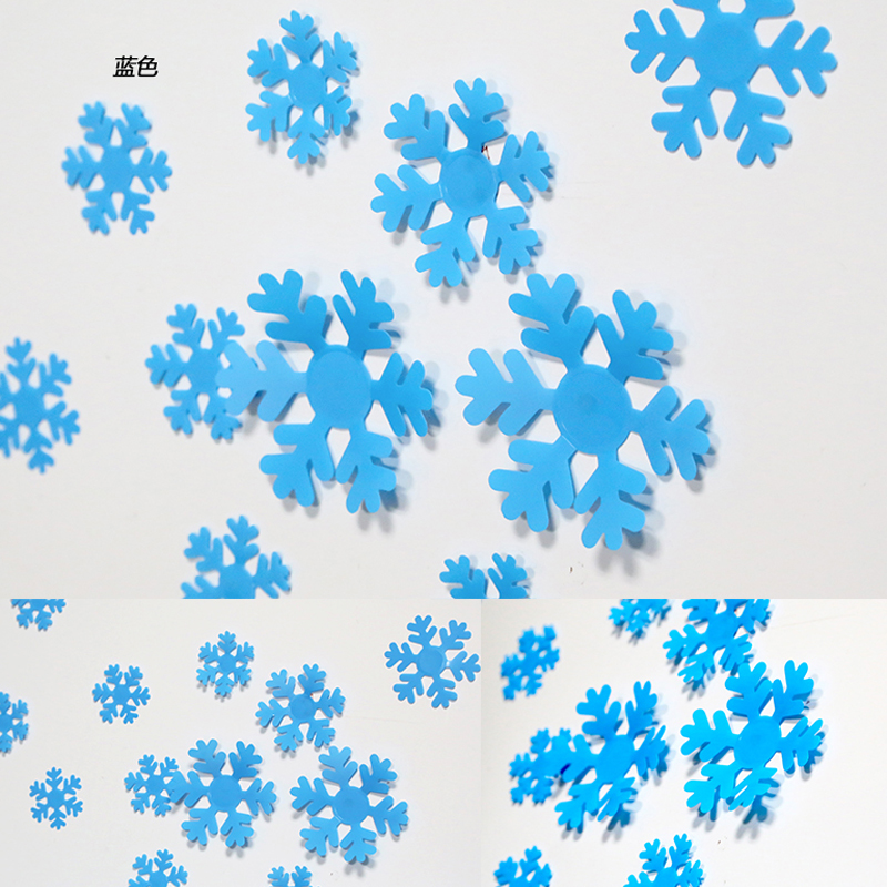 3d three-dimensional simulation of creative self adhesive removable wall stickers snowflake ice box decorations living room bedroom sofa bed