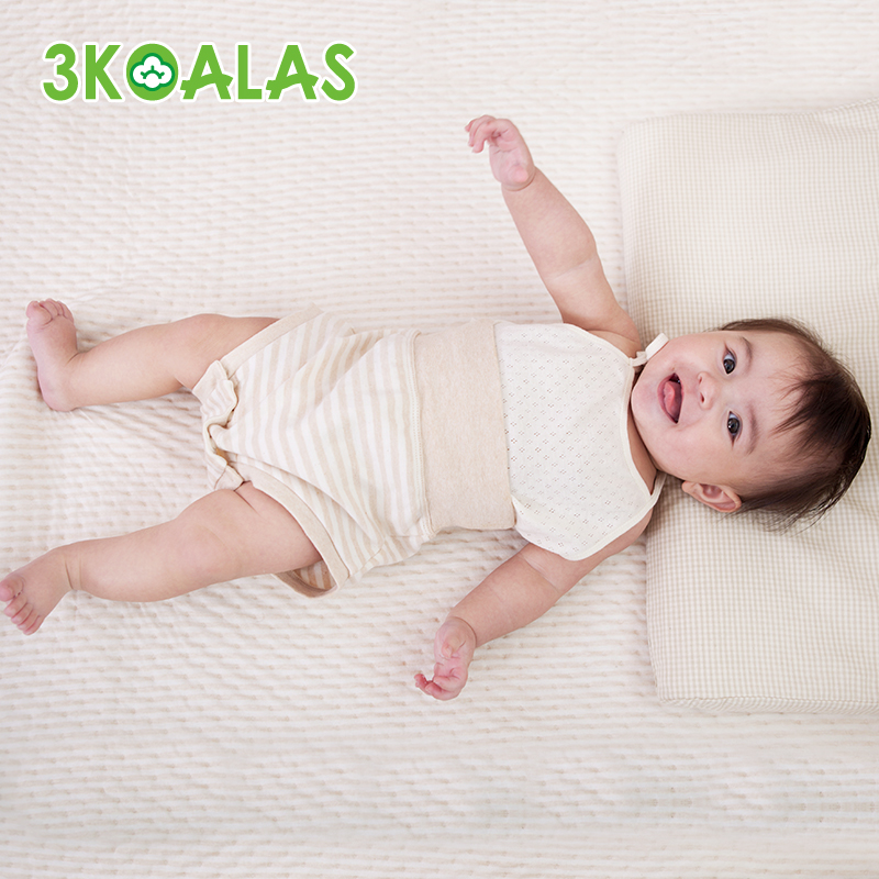 3koalas organic cotton baby care baby belly pants spring and summer cotton underwear briefs female baby child boys pants belly care
