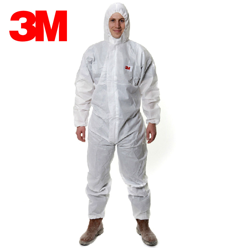 3m 4515 protective clothing clean clothes chemical protective clothing piece hooded suit breathable waterproof overalls