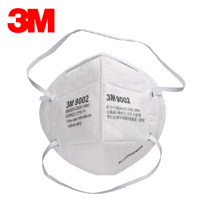3m 9002 foldable particulate respirator pm2.5 dust haze industrial dust masks labor