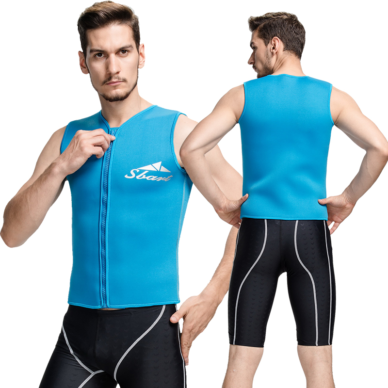 93f3c5c099253 Get Quotations · 3mm4mm weatherization winter swimming diving surfing swimsuit  snorkeling jellyfish clothing for men and women vest vest