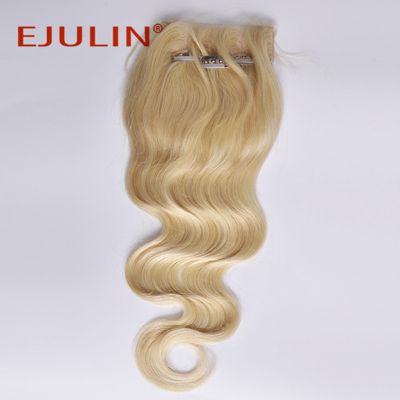 4*4 #613 top closure body wave human virgin hair blonde
