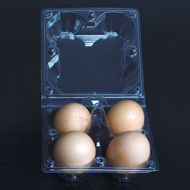 4 loaded delivery goldenhen vacuum salted duck duck egg tray box plastic box packaging pvc anti shock plastic box 100 100个